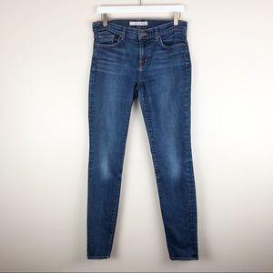 J Brand 811 Mid-Rise Skinny Leg Dark Vintage Jeans
